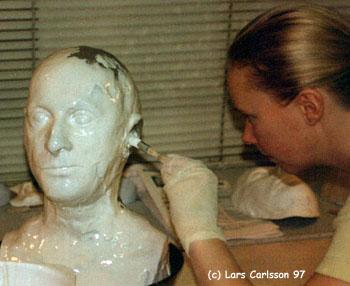 Now It Was Time To Make The Mold That I Going Wax Head In For This Project My Choice Silicone Because Of Softness